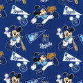 Kansas City Royals Cotton Fabric-Mickey Mouse