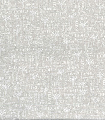 Easter Cotton Fabric -White Cross