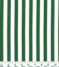 Christmas Cotton Fabric-Large Green & White Stripes