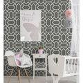 York Wallcoverings Wallpaper-Dark Grey Modern Geometric