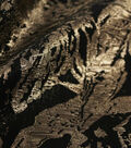 Floral Metallic Fabric-Black & Gold Metallic Abstract Floral