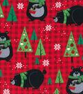 Snuggle Flannel Fabric 42\u0022-Bears & Red Plaid