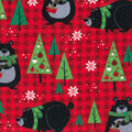 Snuggle Flannel Fabric -Bears & Red Plaid