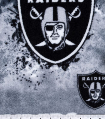 Oakland Raiders Fleece Fabric 58''-Mascot