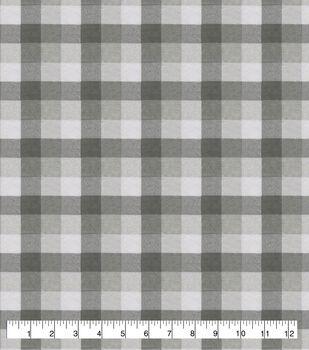 Super Snuggle Flannel Fabric-Gray & White Buffalo Check