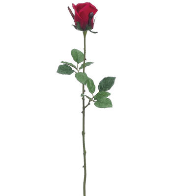 Bloom Room Pack of 12 24'' Medium Ecuador Rose Bud Stems-Red