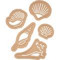 Spellbinders Die D-Lites 5 Pack Etched Dies-Seashells