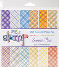Your Next Stamp 24 sheet 6\u0027\u0027x6\u0027\u0027 Paper Pad-Summer Plaid
