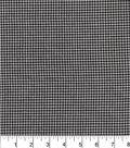 Homespuns Cotton Fabric-Gray/Black Check