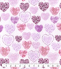 Snuggle Flannel Fabric-Sketched Cluster Hearts