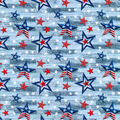 Patriotic Cotton Fabric-Pattern Trapped Stars