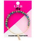 LaurDIY Gold Finish Adjustable Bracelet Base-Multi Beads