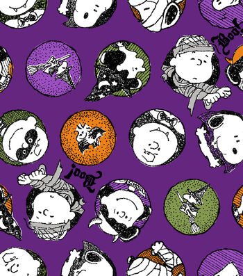 Halloween Cotton Fabric -Peanuts Trick Or Treat