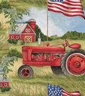 Patriotic Cotton Fabric 43\u0027\u0027-Patriotic Tractor