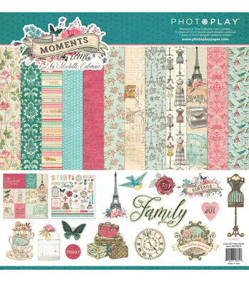 Photoplay Paper Moments in Time 12''x12'' Collection Pack