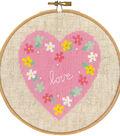 Vervaco 5.8\u0027\u0027 Round 14-count Aida Counted Cross Stitch Kit-Love