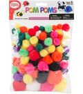 Pepperell Pom Poms Assorted 100ct