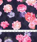 Check It Jacquard Fabric 57\u0022-Large Floral Navy