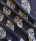 Knit Prints Double Brushed Poly Fabric-Navy White Paisley