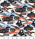 Snuggle Flannel Fabric 44\u0022-Motorcycle Racing