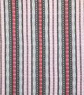 Silky Crinkle Rayon Fabric-Peach Tan Filagree Stripe
