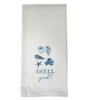Indigo Mist Shell Yeah Towel