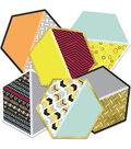 Hexagons Cutout Assorted Gr Pk-5, 36/pk, Set Of 3 Packs