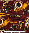 Washington Redskins Fleece Fabric -Retro