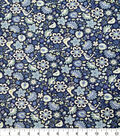 Quilter\u0027s Showcase Cotton Fabric-Folk Floral Navy Purple