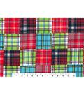 Nursery Flannel Fabric 42\u0027\u0027-Madras Plaid