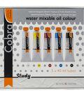 Cobra Study 40ml Oil Paint Starter Set 5/Pkg-Primary