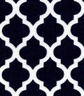 Snuggle Flannel Fabric -Dark Blue Moroccan