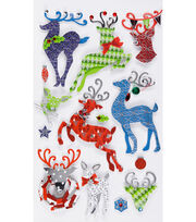 Jolee's Boutique Stickers-Patterned Reindeer, , hi-res