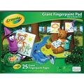 Crayola Giant Fingerpaint Paper Pad 16\u0022X12\u0022-25 Sheets