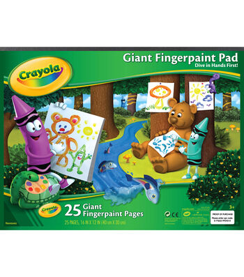 "Crayola Giant Fingerpaint Paper Pad 16""X12""-25 Sheets"