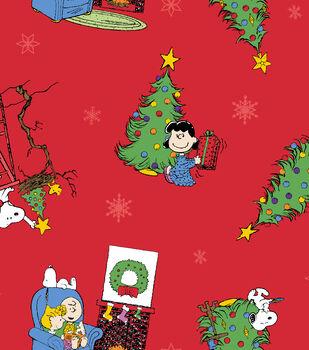 Christmas Cotton Fabric -Peanuts Christmas Morning
