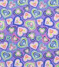 Snuggle Flannel Fabric-Tie Dye Hearts