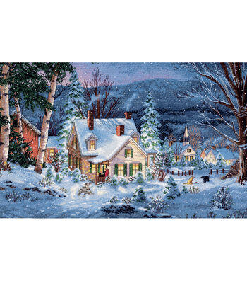 "Gold Collection Winter's Hush Counted Cross Stitch Kit-20""X14"" 16 Count"