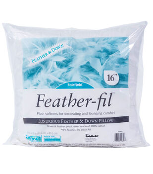 Feather-Fil 16''x16'' Luxurious Feather & Down Pillow Insert