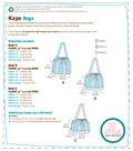 Kwik Sew Pattern K0230 Striped Drawstring Bags