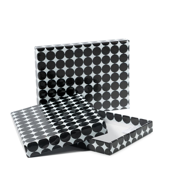 DCWV Designer Set Of A6 Boxes: Black With Pink Foil