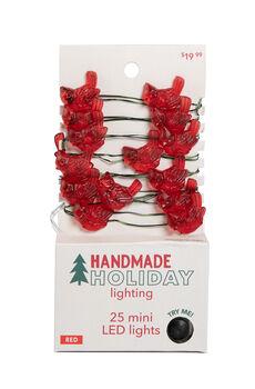 Handmade Holiday Lighting Christmas 25 ct Cardinal LED Red Light Strand