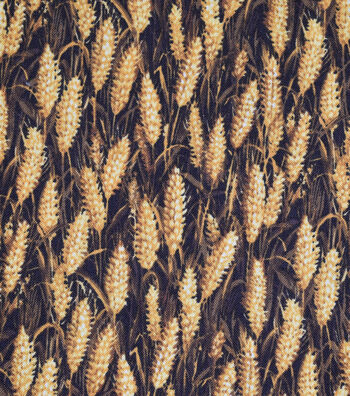 "Harvest Cotton Fabric 44""-Wheat Field"
