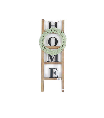 Simply Spring 14.25''x38'' Wood Ladder-Home & Wreath