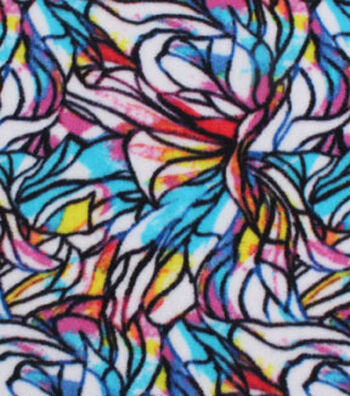 Anti-Pill Fleece Fabric 59''-Stained Glass