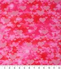 Valentine\u0027s Day Cotton Fabric 43\u0022-Packed Hearts Pearlized