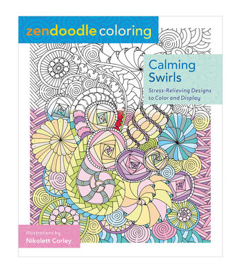 Adult Coloring Book-St. Martin's Press Zendoodle Calming Swirls