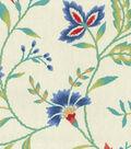 Waverly Upholstery Fabric 13x13\u0022 Swatch-Carolina Crewel Bluebell