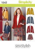 Simplicity Pattern 1542D5 4-6-8-10-1-Misses Sportswear