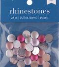 hildie & jo 28 pk 0.21 oz. Plastic Flat Back Rhinestones-Red Multicolor